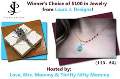 Love, Mrs. Mommy: Winner's Choice of $100 in Jewelry from Laura J. D...
