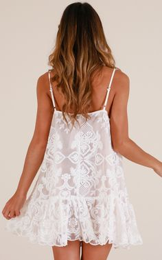 Lush Lover Dress In White Lace Produced in 2020 Casual Formal Dresses, Elegant Dresses For Women, Fabulous Dresses, Pretty Dresses, Sexy Dresses, Dresses For Work, Summer Dresses, Tailored Dresses, Unique Dresses