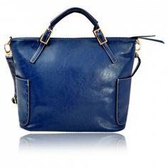 Vintage Women's Handbag With Buckle and Rivets Design