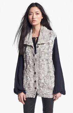 L'AGENCE Marble Knit Sweater Vest | Nordstrom