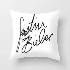Justin Bieber Throw Pillow by Sjaefashion | Society6  From society6.com