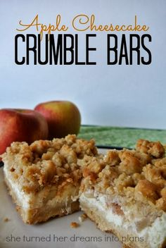 Apple Cheesecake Crumble Bars at She Turned Her Dreams Into Plans