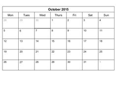 october 2015 fillable calendar