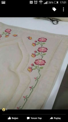 This Pin was discovered by Şey Cross Stitch Embroidery, Hand Embroidery, Cross Stitch Patterns, Embroidery Designs, Just Cross Stitch, Prayer Rug, Diy And Crafts, Knit Crochet, Sewing