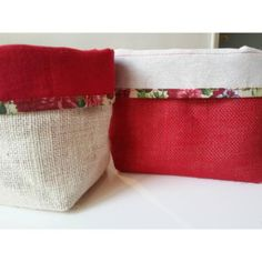 Contenedor, Organizador, Panera, Cesta De Arpillera Plant Covers, Burlap Bags, Fabric Boxes, Vintage Market, Table Linens, Bag Storage, Jute, Purses And Bags, Christmas Crafts