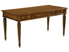 Shop this hekman office 60 x 30 table desk in urban ash burl from our top selling Hekman office desks. LuxeDecor is your premier online showroom for home office furniture and high-end home decor. Desk And Chair Set, Table Desk, Table Furniture, Furniture Design, Hooker Furniture, Office Furniture, Furniture Ideas, House Blinds, Blinds For Windows