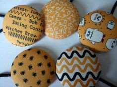 Orange Monster Halloween Large Button Hair by TheHomemadeHaven, £8.99
