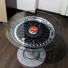 Put this in your living room ! If you have a boring set of tires throw some Permanent Tire Stickers on and spice up your ride ! : by the_decal_shop Tire Furniture, Car Part Furniture, Automotive Furniture, Automotive Decor, Unique Home Decor, Diy Home Decor, Car Parts Decor, Old Tires, Garage Art