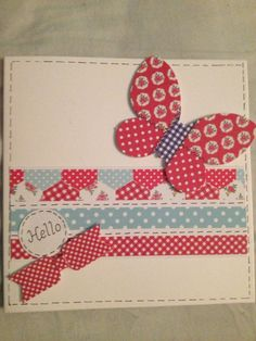 Using craftwork cards 'Kitsch' papers, simple but effective card
