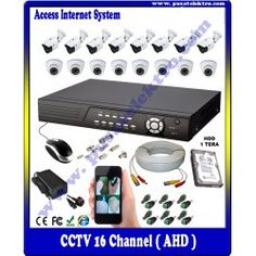 Paket Kamera CCTV 16 Channel ( Online System ) Rp.14.000.000,-  Benefit & Keuntungan Yang Anda Dapatkan :  - 16 Unit Kamera 1.3 Megapixels ( Indoor/Outdoor ) - 1 Unit DVR 16 Channel ( Akses Internet ) - Hard Disk 1 TB (Alat Rekam) - 36 Buah BNC & Accesories - 100 Meter Kabel RG.Pro (2 in 1) - Free Instalasi & Akses Setting Internet - Garansi Teknis 1 Bulan - Garansi Barang 1 Tahun (DVR)  Pusat Elektro Phone : (021) 560 5533 Mobile : 0812 8930 5533 W.A.: 0859 5905 5000…