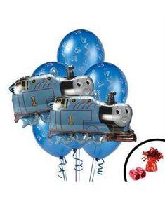 Boys Thomas the Train Jumbo Balloon Bouquet - Multi-colored