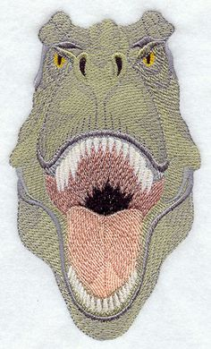 Machine Embroidery Designs at Embroidery Library! - Tyrannosaurus Rex Head