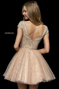Sherri Hill - 52273 Beaded Cap Sleeve Tulle A Line Short Dress Plus Size Dress Outfits, Winter Dress Outfits, Cute Dresses, Beautiful Dresses, Short Dresses, Girls Dresses, Prom Dresses, Wedding Dresses, Casual Outfits