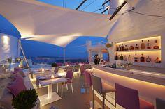 Mylos Bar Restaurant, is one of the best Restaurants in Santorini. Restaurant Exterior, Restaurant Bar, Greece Honeymoon, Wine List, Santorini Greece, Wonderful Places, Lounge, Building, October 23