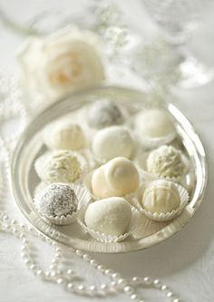 White wedding truffles
