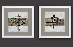 Cuadros abstractos enmarcados