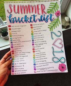 ɮ aɮ – Kristina – – Summer Bucket List Ideen – Bullet Journal Bullet Journal Mood, Bullet Journal Ideas Pages, Bullet Journal Inspiration, Journal Ideas For Teens, Diary Ideas For Teens, Bullet Journals, Summer Bucket List For Teens, Summer Fun List, Summer Goals