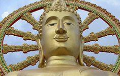 Buddha in Koh Phangan in Thailand. Koh Phangan, Bus Tickets, Travel Info, Buddha, Sailing, Thailand, Statue, Candle, Sculptures