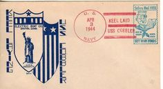 Nice WWII Submarine USS COBBLER SS-344 Naval Cover 1944 KEEL LAID Cachet