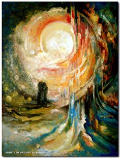 Bridge of Dreams, a landscape abstract painting by Rassouli at Avatar Fine arts