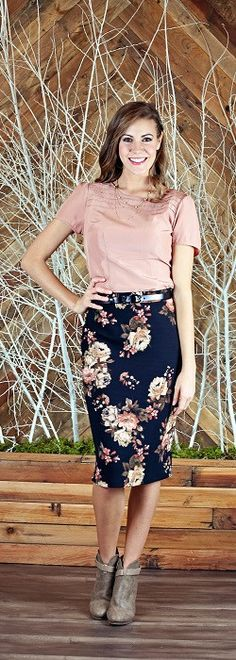 A simple pencil skirt with a fun floral pattern is a favorite part of any spring style. Its your choice as to which fun pattern fits you best and gives you new