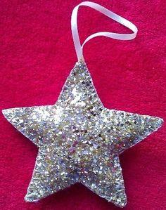 Tree Ornament - Glitter Star £3.00