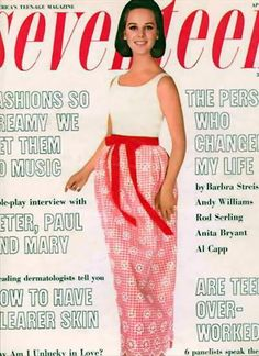 Seventeen Magazine / Cover with Martha Branch / April 1965