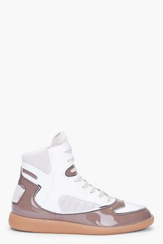 MAISON MARTIN MARGIELA //  HIGH-TOP BROWN COMBO SNEAKERS