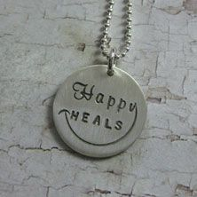 Happy heals medallion necklace but Alyssa Phillips. http://alyssaphillipsinc.com/store/