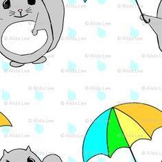 Momonga in the Rain