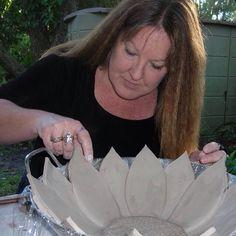 Ceramics 2-flower bowls