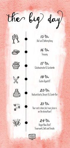 Eine zauberhafte Menükarte im Rosa Wasserfarben Look. Auf der Vorderseite ist das Menü von Vorspeise über Hauptspeise bis zu der Nachspeise aufgeführt. Natürlich wird eurer Menü eingefügt!  Auf...