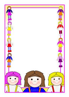 Dolls A4 page borders