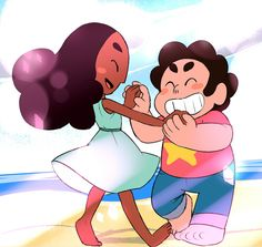 Steven Universe Connie Steven Universe, Steven Universe Ships, Steven Universe Comic, Connie Stevens, Cat Stevens, Bubble Buddy, Kids In Love, Cartoon Tv Shows, Angel Cake
