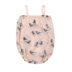 crazy in love with this organic bird romper for a little girl @gogentlybaby