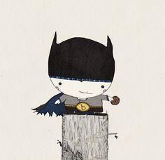 B is for Batman Print 12x12. $36.00, via Etsy.