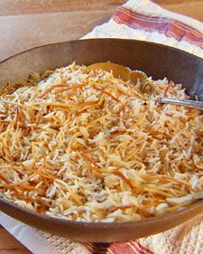 """Rice and Noodle Pilaf from the Martha Stewart website.  This recipe is a great side dish to any meal. For breakfast, try it piled on a plate with a fried egg on top.     From the book """"Mad Hungry"""" by Lucinda Scala Quinn (Artisan Books)."""
