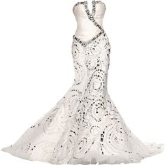 Jack Guisso - edited by Satinee ❤ liked on Polyvore featuring dresses, wedding dresses, gowns, wedding and long dresses
