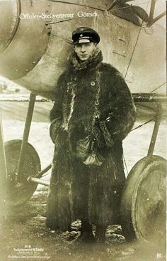 World War One German Aviator Walter Göttsch of Jasta 8 by San Diego Air & Space Museum Archives, World War One, First World, Killed In Action, Air And Space Museum, Military History, World History, Military Aircraft, Historical Photos, Wwii