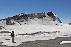 Mount Ruapehu's summit crater