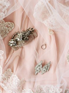 Vintage-glam pin and drop earrings: http://www.stylemepretty.com/little-black-book-blog/2015/09/15/romantic-blush-boca-raton-wedding/ | Photography: Graham Terhune - http://www.grahamterhune.com/