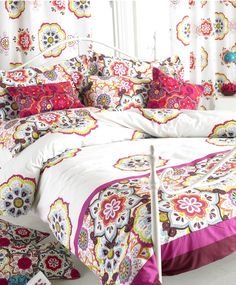 Festival bedding.  http://www.worldstores.co.uk/p/Paoletti_Festival_Bedding_Set_in_White_and_Magenta.htm