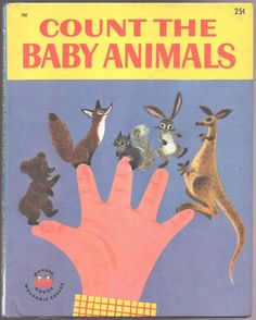 Vintage Children's Wonder Book ~ COUNT THE BABY ANIMALS
