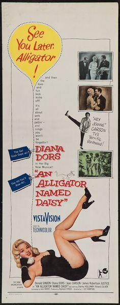 An Alligator Named Daisy (1955) Stars: Donald Sinden, Jeannie Carson, James Robertson Justice, Diana Dors, Roland Culver, Stanley Holloway, Stephen Boyd, Michael Shepley ~ Director: J. Lee Thompson