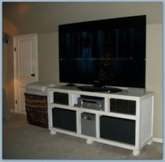 DIY TV Stand... so doing this for the family room!
