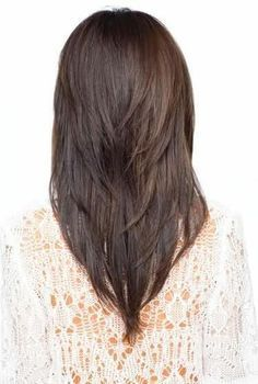 v shaped haircut - Google Search