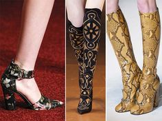 Fall/ Winter 2014-2015 Shoe Trends: Printed Boots   #shoes #trends #shoetrends