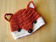 Ravelry: Fox Beanie pattern by Theresa Grant by connie Crochet Baby Hats Free Pattern, Crochet Cap, Crochet For Kids, Knitting Patterns, Crochet Patterns, Hat Patterns, Knitting Tutorials, Crochet Granny, Stitch Patterns