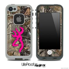 Hot Pink Camo V7 Browning Skin for the iPhone 4/4s or 5 LifeProof Case on Etsy, $10.58 CAD