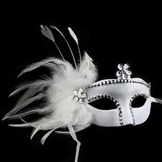Masquerade wedding would be kinda cool! Masquerade Wedding, Masquerade Theme, Venetian Masquerade, Masquerade Ball, Venetian Masks, Italian Masks, Feather Mask, Princess Flower, Lace Mask